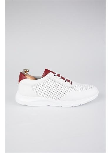 Tripy Hakiki Deri Sneakers Beyaz